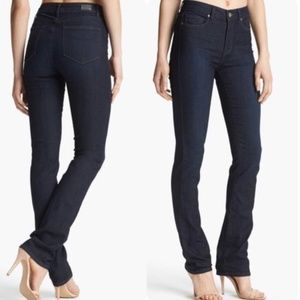 Paige High Rise Hoxton Straight Kelly Blue Jeans